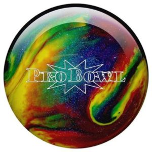 Bowlingball Pro Bowl violet, blue, yellow sparkle platz 3